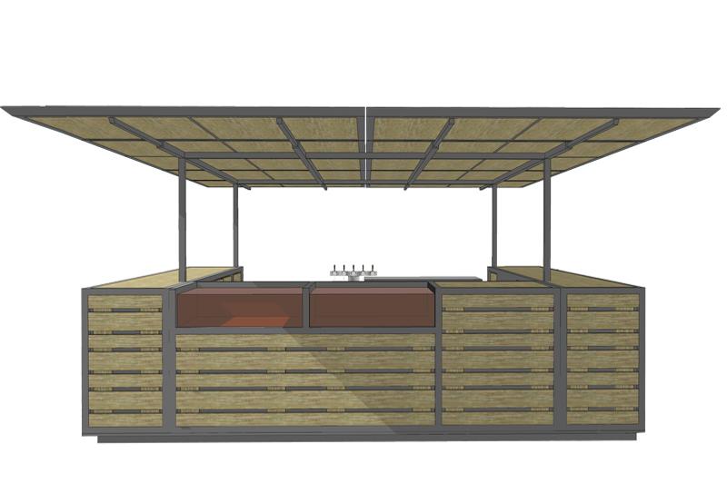 mobilier bar escamotable atelier verfaillie lassailly architectes. Black Bedroom Furniture Sets. Home Design Ideas